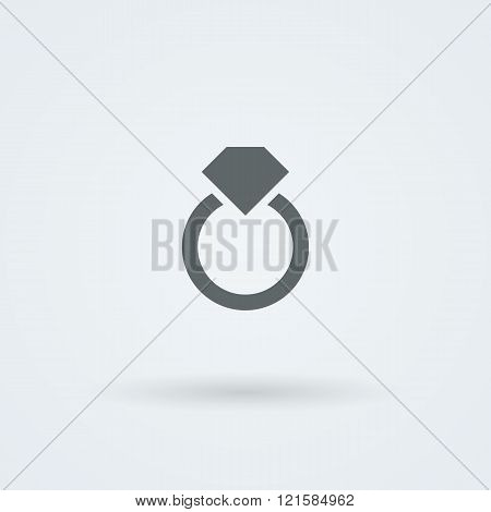 Logo with a jewel. Laconic headdress. Icon.