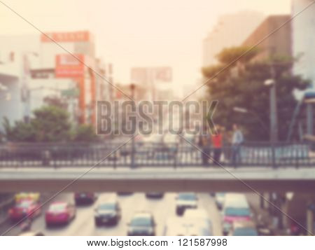 City Life Blur Background