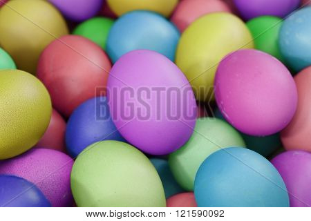 multi fresh color eggs, for easter holiday