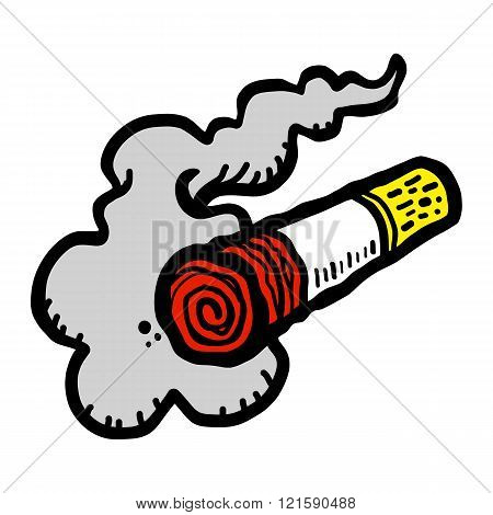 Cigarette smoking vector illustration