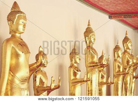 Gold Buddha Statues