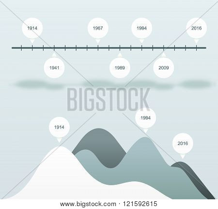 Set infographics status bar. Blue statistics charts. Business data analysis