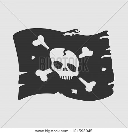 Vector Symbol Pirate Flag