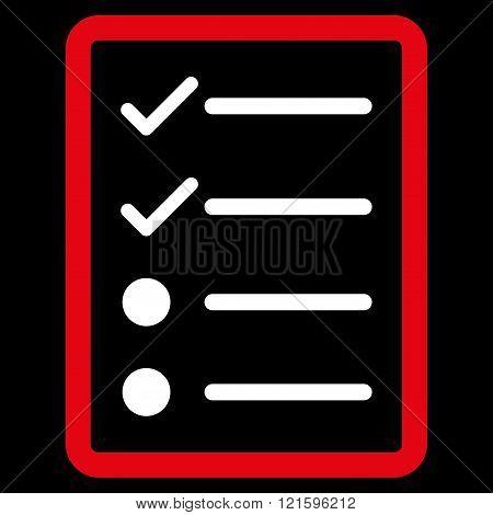 Checklist Page Flat Vector Symbol
