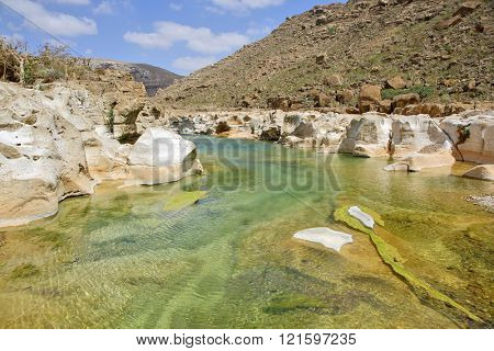 Fresh water pool on Socotra island