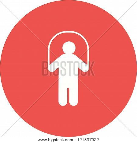 Rope, skipping, child icon vector image. Can also be used for humans. Suitable for use on web apps, mobile apps and print media.
