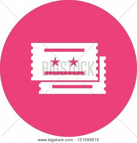 Movie, tickets, raffle icon vector image. Can also be used for outdoor fun. Suitable for use on web apps, mobile apps and print media.