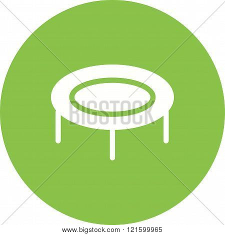 Trampoline, fun, play icon vector image. Can also be used for outdoor fun. Suitable for use on web apps, mobile apps and print media.
