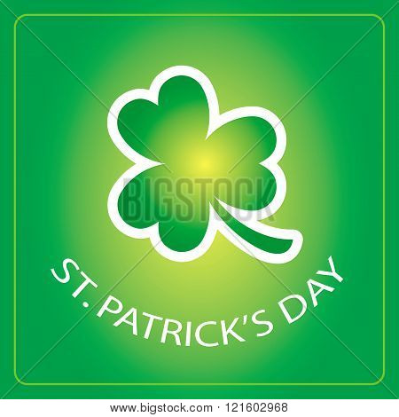 St Patricks Day card with shamrock background 1