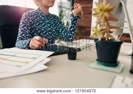 Hand Of Female Graphic Designer