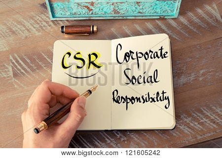 Acronym Csr As Corporate Social Responsibility