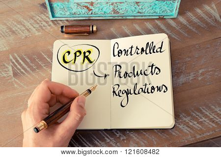 Acronym Cpr As Controlled Products Regulations