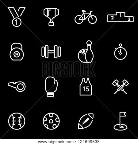 Vector Line Sport Icon Set