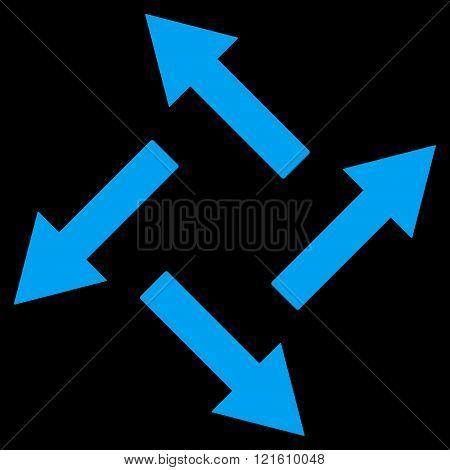 Centrifugal Arrows Flat Vector Symbol