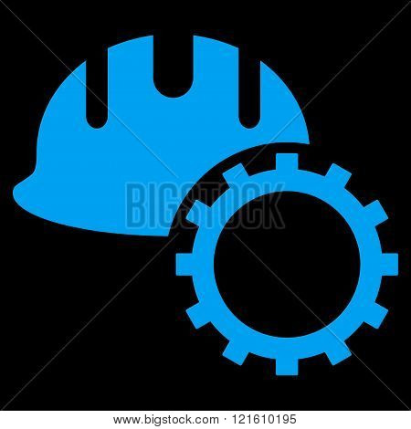 Development Hardhat Flat Vector Symbol