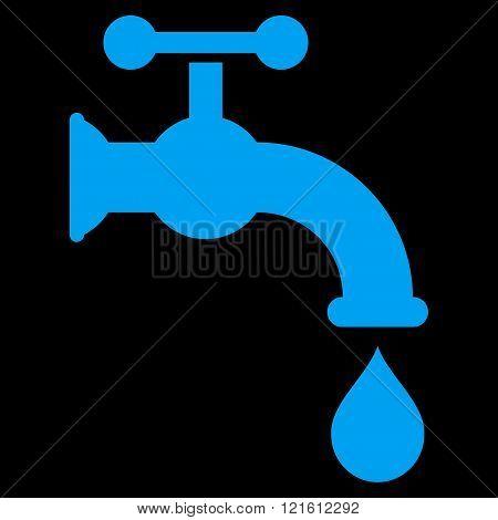 Water Tap Flat Vector Symbol