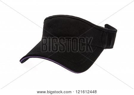 Adult black golf visor