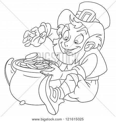 Cute Cartoon Leprechaun On St. Patrick's Day