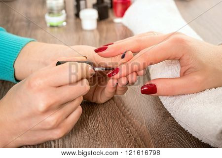 Manicure, Painting On Nail