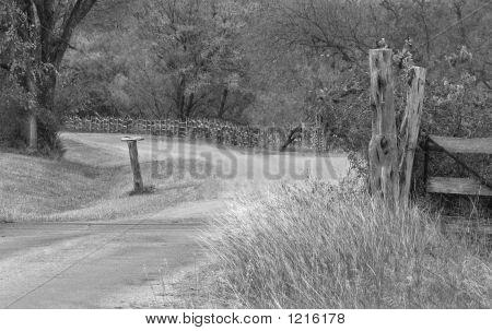 Dirt Road Bw