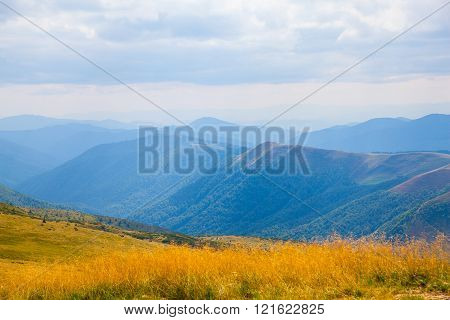 Carpathian Mountains In Ukraine