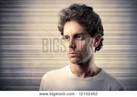 embitter man with backgrounds