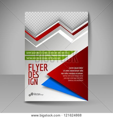 Editable A4 Poster For Design Cover Of Magazine. Flyer Template.