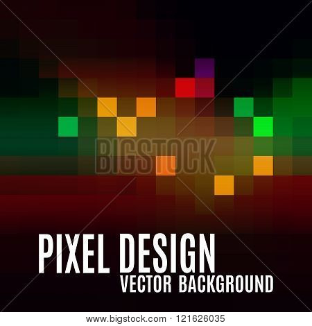 Pixel Abstract Background As Colorful Mosaic. Modern Vector Design Elements.