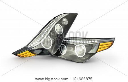 headlight car headlight car isolated on a white background