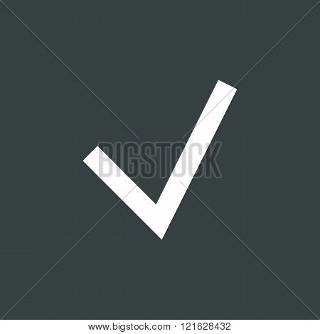 Accept Icon, On Dark Background, White Outline, Large Size Symbol