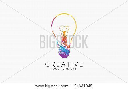 Lightbulb logo. Idea logo. Creative logo. Bulb logo design