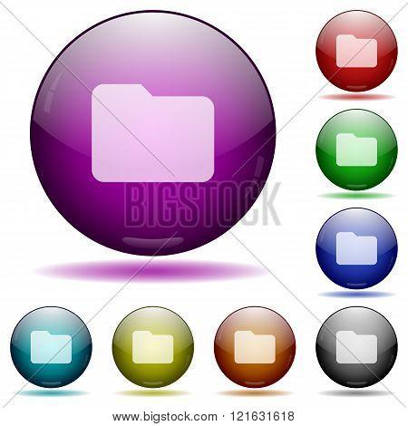 Folder Glass Sphere Buttons