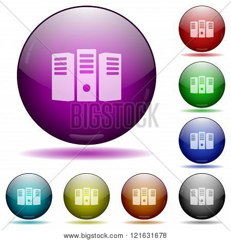 Server Hosting Glass Sphere Buttons