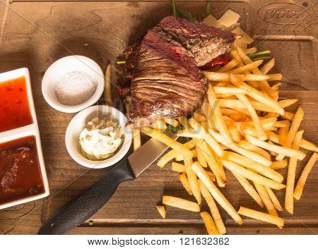 Pork Ribs On The Plate