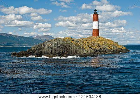 Lighthouse end of the world, Ushuaia, Argentina.