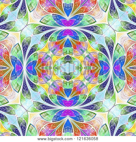Multicolored seamless background in stained-glass window style. You can use it for invitations notebook covers phone case postcards cards wallpapers and so on. Artwork for creative design art and entertainment