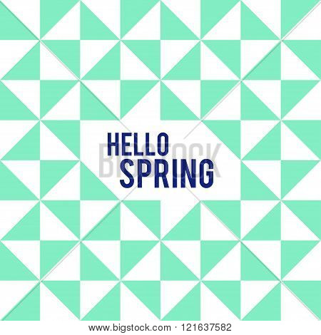 Rhombus And Square Shape And Hello Spring