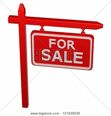 Pillar With Sign For Sale