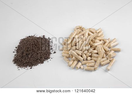 Conifer Wood Pellets And Their Ash