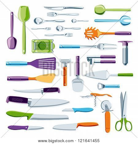 Modern Colorful Kitchen Equipment