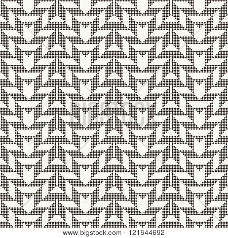 Seamless pattern. Abstract pixel background. Modern stylish texture with small rhombuses. Regularly repeating geometrical ornament with pixel zigzags rhombus triangle.