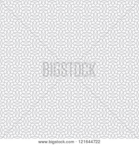 Vector seamless pattern. Modern stylish monochrome texture. Regularly repeating geometrical pattern with intersecting waves. Abstract seamless background