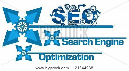 SEO Abstract Gears Floral Blue