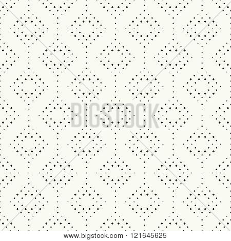 Seamless pattern. Simple stylish texture with small rhombuses. Regularly repeating elegant geometric rhombic tiles. Vector element of graphical design
