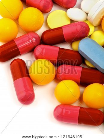 Colored Vitamin Pills