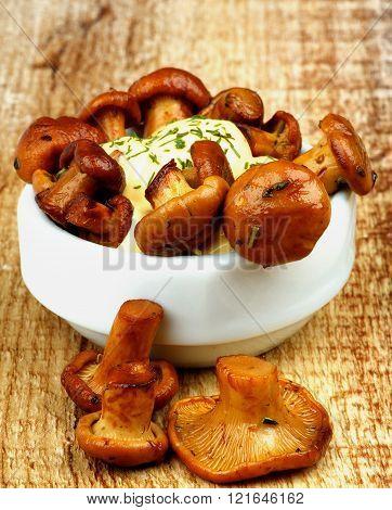Delicious Roasted Chanterelles