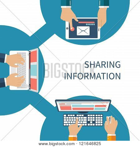 Sharing Information Concept Vector. Social Network