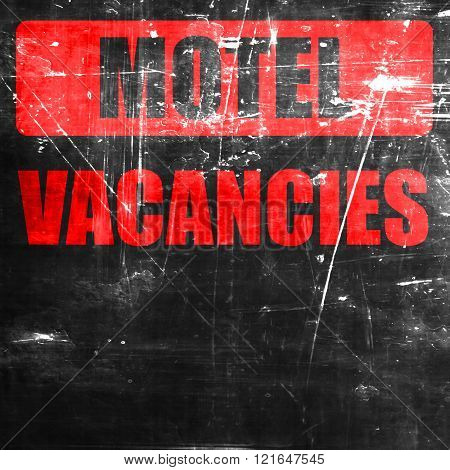 Vacancy sign for motel