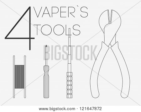 4  Thin Lines Vaper Tools Set