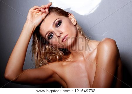 Studio Shot Of Beautiful Naked Female